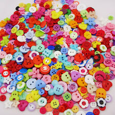 100pcs Lots Mix Assort Plastic Buttons Scrapbooking Sewing Craft PT98