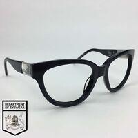 TWIGGY FOR AURORA eyeglasses BLACK CATS EYE frame Authentic MOD: 30472525