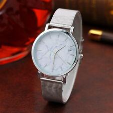 Hot Women Men Casual Marble Pattern Watch Stainless Steel Dial Quartz Wristwatch
