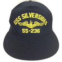 Vintage Submarine Cap USS Silversides Hat SS-236 Navy Made USA Snapback Trucker