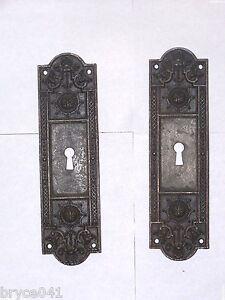 Antique Pocket Door Pulls stamped 5275 & 5355