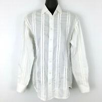RALPH LAUREN women sz 2 top - NEW white pleated eyelet collar blouse Black Label