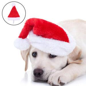 Christmas Pet Dog Cat Hat Xmas Plush Santa Claus Small Hat Party Decorations