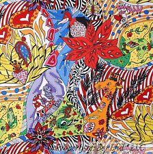 BonEful Fabric FQ Cotton Quilt Rain*bow Wild*Flower Africa*n Zebra Giraffe Skin