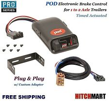POD TRAILER BRAKE CONTROL w ADAPTER FOR SILVERADO SIERRA 1500, 2500  80500
