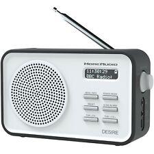 Azatom Portable DAB Radio FM Clock Alarm Home Speaker Digital Desire Black