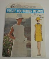 Vogue Couturier Dress Pattern 1867 FEDERICO FORQUET of Italy Sz 12 Cut Complete