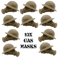 WWII GAS MASKS For Army Soldiers Mini War Figures WW2 Military Toy Set Fit Lego