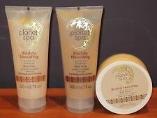 Avon Planet Spa African Shea Butter Set Body Butter Body Wash & Scrub $33 NEW