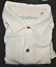 Roundtree Yorke Caribbean Camp Shirt Winter White XL Short Sleeve NWT (RYC210)