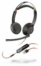 Plantronics Blackwire 5220 C5220 Stereo USB-A & 3.5mm Headband Headset MS Skype