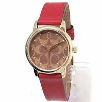 Coach Women´s Watch Quartz Ruby Leather Strap Red 14503401 $215