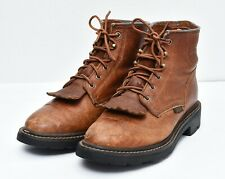 Ariat ATS 31080 Leather Kiltie Roper Western Riding Ankle BOOTS Womens Sz 7