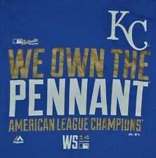 T-SHIRT S SMALL KANSAS CITY ROYALS KC BASEBALL WE OWN THE PENNANT 2014 SHIRT