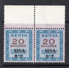 1966 Bft:13a 20s Azul Kenia graduado personal de impuestos u/m par de ingresos marginal.