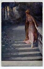 G. HOFFMANN Rendez-Vous Salon de Paris PC Viaggiata 1912