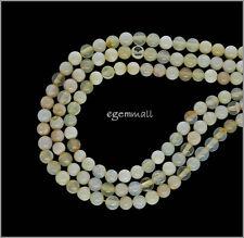 30ct Rare Gem Oregon Yellow Opal Round Beads 4mm #76147