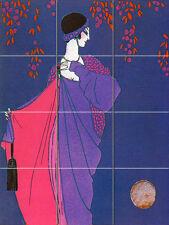 Art Nouveau Au Clair de la Lune Ceramic Mural Backsplash Bath Tile #44