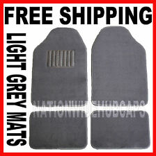 LIGHT GRAY Set of 4 Carpet Front &Rear Floor Mat Mats Liner Liners Car Truck SUV