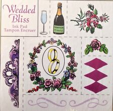 WEDDING BLISS Rubber Stamp Kit(19pc) Rubber Stamped•Bride•Rings•Married •Bridal•