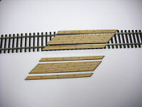 Laser Cut Custom HO Scale Double Lane Left Angled Crossing 2 Pack