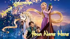 Birthday banner Personalized 4ft x 2 ft  Tangled, Disney, Rapunzel