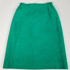 Lilli Ann Collections Womens Skirt VTG Green Ultrasuede Pencil
