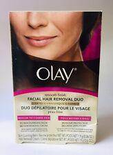 Olay Smooth Finish Facial Hair Removal Duo 1 Kit Medium to Coarse Hair READ
