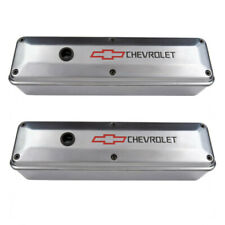 Proform 141-910 SBC 2-Piece Polished Aluminum Chevrolet Bowtie Logo Valve Covers