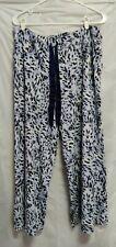 SOMA Wide Leg Lounge Pants Woman's XXL Pajamas Pockets Ribbon Drawstring