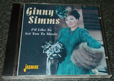 GINNY SIMMS-I'D LIKE TO SET YOU TO MUSIC-UK 2001 CD-REMASTERED-MINT