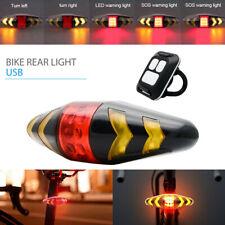 DEL Vélo Indicateur Arrière Laser Tournez signal lumineux à distance sans fil USB