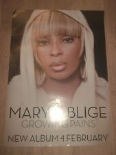 "MARY J. BLIGE ** GROWING PAINS ** ORIGINAL PROMO POSTER 2007 ~ 27.5"" X 19.75"""