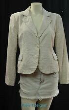 Harve Benard suit jacket blazer 1 button top Seersucker cotton mesh 14P NEW VTG