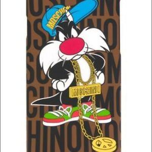 Genuine MOSCHINO iPhone 6 / 6s Sylvester Looney Tunes Snap On Back Case