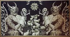 "Satanic Art GIANT WIDE 24"" x 46"" Poster Evil Art Devil Halloween Satan Sheep"