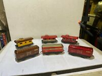 Lot of (6) Marx 4 Wheel Freight Cars