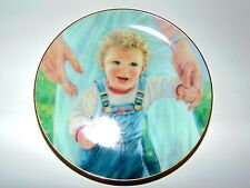 Vtg Abbie Williams Collector Plate Baby's First Steps 1991 Roman, Inc. 000000B9