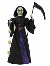 """Reaper Light Up & Sound 28"""" Death Skulls Halloween Party Decoration Accessory"""