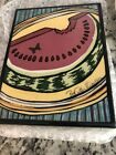 Tile-Still Life Watermelon & Butterfly-hand Painted-Pat Custer Denison-nr