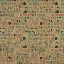 F856 Green Orange Blue Burgundy Geometric Chenille Upholstery Fabric By The Yard
