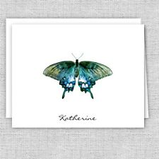 Butterfly Personalized Note Cards, Stationery Set, Folded Note Cards