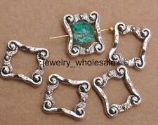 20pcs Tibetan Silver Charms Rectangle Spacer Beads Jewelry Accessories 16mm 3111