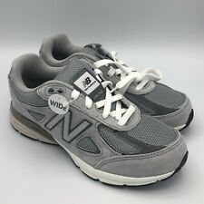 Youth New Balance 990 V4 Grey Athletic Running Shoes 3.5Y Womens Size 5 KJ990GLG