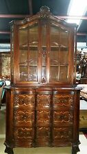 """Antique French Provincial Vitrine or Display Cabinet  H 80""""xW43""""xD 21"""" 3 drawers"""