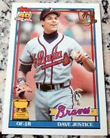 DAVE JUSTICE 1991 Topps Desert Shield RARE SP Rookie Cup Braves Yankees 305 HRs