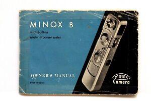 Minox B Owner's Manual #P4128