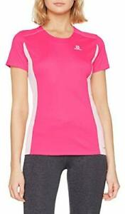 SALOMON AGILE HEATHER T-SHIRT.  PINK YARROW .SIZE X LARGE. BRAND NEW WITH TAGS