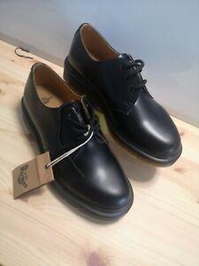 Dr. Martens 1461 PW Black Smooth Size UK 5 Unisex Casual Lace Up Shoes 3-Eyelet