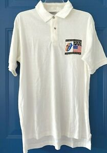 Crew Shirt Rolling Stones 1989 Steel Wheels Tour Stedman Golf Polo Large LG L